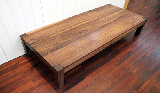Walnut 4-square low table