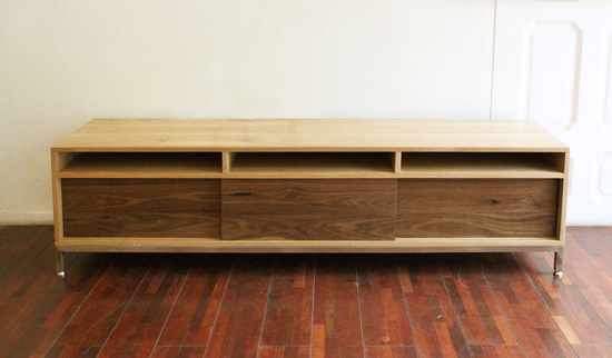 Ash steel tv chest